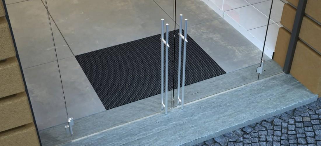Porta per esterno movimentazione idraulica