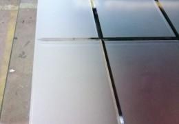 Bisellatura ed incisione su vetro satinato