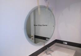 Specchio ovale con bisellatura satinata