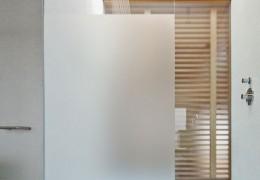Box docccia con vetro fisso da 10 mm satinato e temperato
