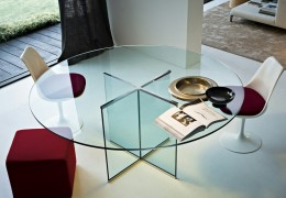 Tavolo e base in cristallo temperato da 15 mm