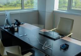 Protezioni parafiato Covid in vetro di sicurezza, misure varie